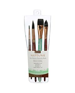 Princeton Series 4750 Neptune Synthetic Squirrel - Pro 4 Pack  Brush Set