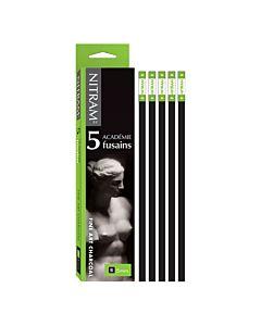 Nitram Académie Fusains B 5mm Charcoal Batons