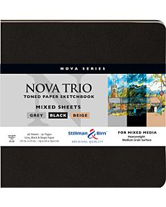 Stillman & Birn Nova Trio Soft Cover White Square Mixed Media Sketchbook 7.5x7.5""