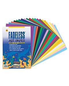 """Fadeless Paper Assorted Colors 12x18"""" 60 Sheets"""