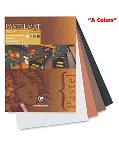 "Clairefontaine Pastelmat Pad of ""A Colors"" - 9x12"""