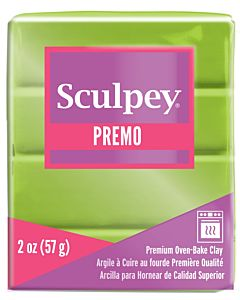 Sculpey Premo - 2oz Bright Green Pearl