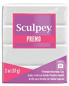 Sculpey Premo - 2oz White GOLD Glitter