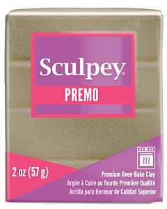 Sculpey Premo - 2oz Yellow GOLD Glitter