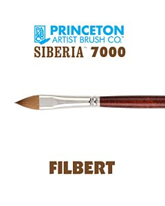 Princeton Series 7000 Siberia - Long Handle - Filbert - Size 8