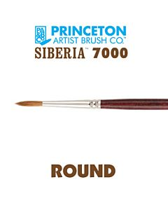 Princeton Series 7000 Siberia - Long Handle - Round - Size 00