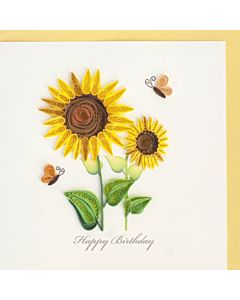 Quilling Card - Birthday Sunflower