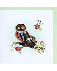 Quilling Card Owl