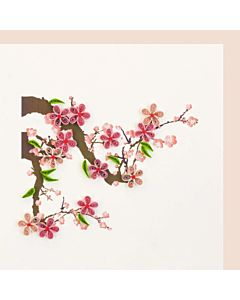 Quilling Card Cherry Blossom