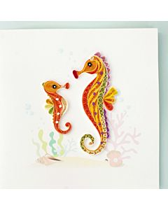 Quilling Card - Seahorse