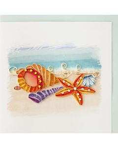 Quilling Card - Seashells