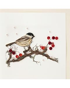 Quilling Card - Bird & Berries