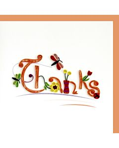 Quilling Card - Thank You