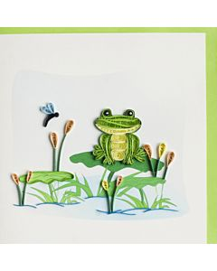 Quilling Card - Frog