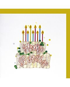 Quilling Card - Bday Cake W/ Candle