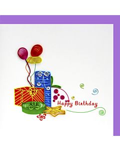 Quilling Card - Gifts & Balloons