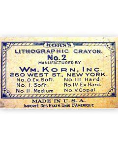 2-Pack Litho Crayon #2 Medium