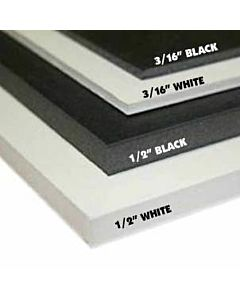 "Foam Board 40X60 1/2"" Black/Black"
