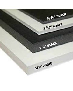 "Foam Board 48X96 1/2"" Black/Black"
