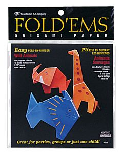 Fold'ems  Origami Paper - Wild Animals