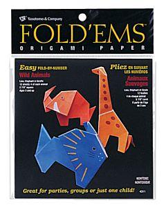 Fold'ems  Origami Paper - Wild Animals