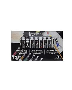 Grumbacher Academy Watercolors - 12 Tube Set