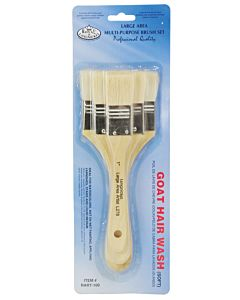 Large Area Brush 3-Pack - Goat Hair