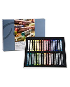 Rembrandt Soft Pastel Set of 30 Full Sticks - Assorted Colors