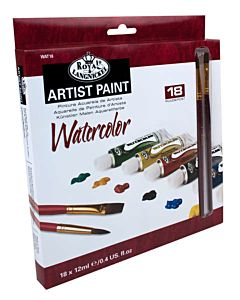 Royal & Langnickel Watercolor Painting Pack, 18 12ml tubes