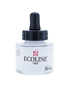 Talens Ecoline Liquid Watercolor 30ml Pipette Jar - White