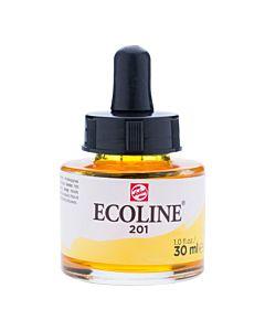 Talens Ecoline Liquid Watercolor 30ml Pipette Jar - Light Yellow