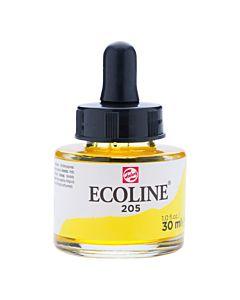 Talens Ecoline Liquid Watercolor 30ml Pipette Jar - Lemon Yellow