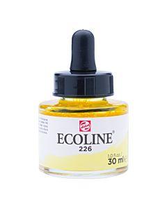 Talens Ecoline Liquid Watercolor 30ml Pipette Jar - Pastel Yellow