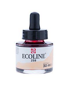 Talens Ecoline Liquid Watercolor 30ml Pipette Jar - Apricot
