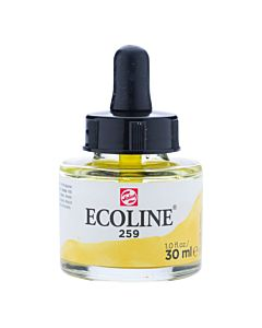 Talens Ecoline Liquid Watercolor 30ml Pipette Jar - Sand Yellow