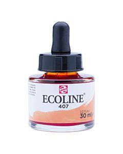 Talens Ecoline Liquid Watercolor 30ml Pipette Jar - Deep Ochre