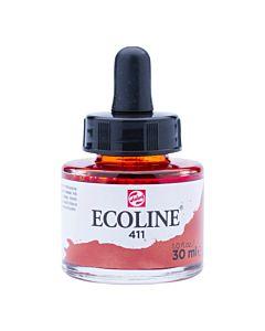 Talens Ecoline Liquid Watercolor 30ml Pipette Jar - Burnt Sienna