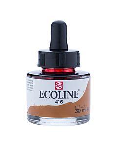 Talens Ecoline Liquid Watercolor 30ml Pipette Jar - Sepia