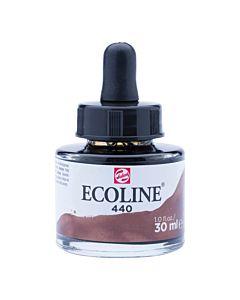 Talens Ecoline Liquid Watercolor 30ml Pipette Jar - Sepia Deep