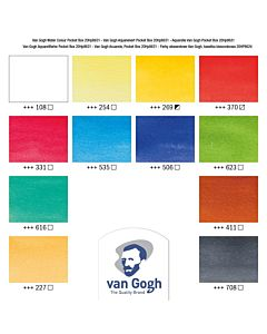 Van Gogh Watercolors - 12 Pan Pocketbox Set