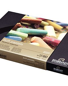 Rembrandt Soft Pastel Set of 60 Half Sticks - Assorted Colors