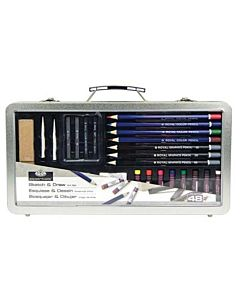 Royal & Langnickel Draw Sketch Clear Tin 48 Piece Set