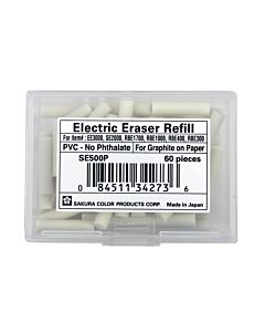 Sakura SE2000 Electric Eraser Refills Box of 70 - White