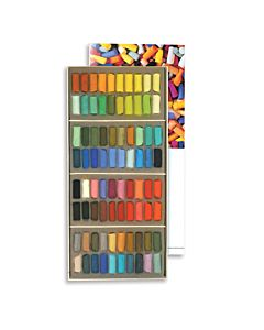 Sennelier Soft Pastels Cardboard Box Set of 80 Half Stick - Assorted Colors