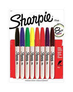 Sharpie Permanent Marker Fine - 8 Color Set