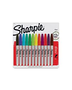 Sharpie Permanent Marker Fine - Set of 12