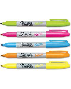 Sharpie Neon Marker Fine - Neon 5 Pack