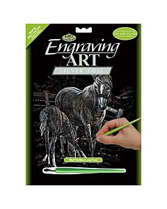 Royal & Langnickel Silver Foil Engraving Kit - Mare and Foal