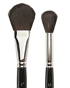 Silver Brush Series 5619 Black Goat Hair - Oval - Size 1""