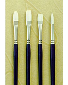 Silver Brush Bristlon Series 1901 Synthetic Hair - Flat - Size 00